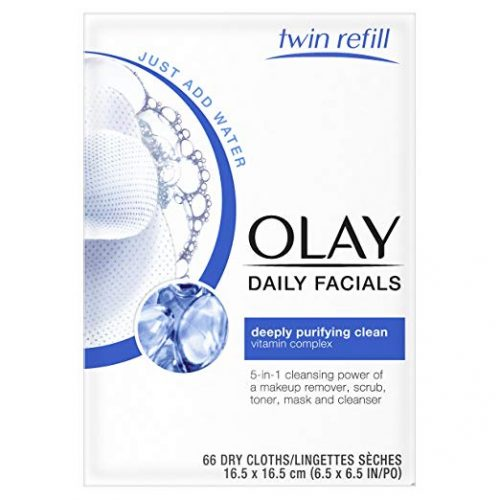 Makeup Remover Wipes by Olay Daily Facial Makeup Remover Wipes & 4-In-1 Water Activated Facial Cleanser Cloths, Deeply Clean 66 Count