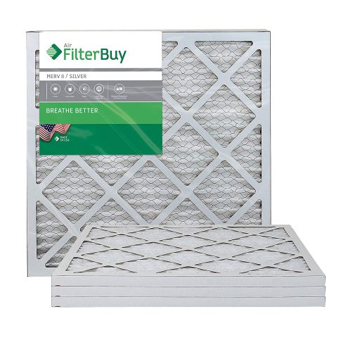 FilterBuy AFB Silver MERV 8 20x20x1 Pleated AC Furnace Air Filter - AC Filters
