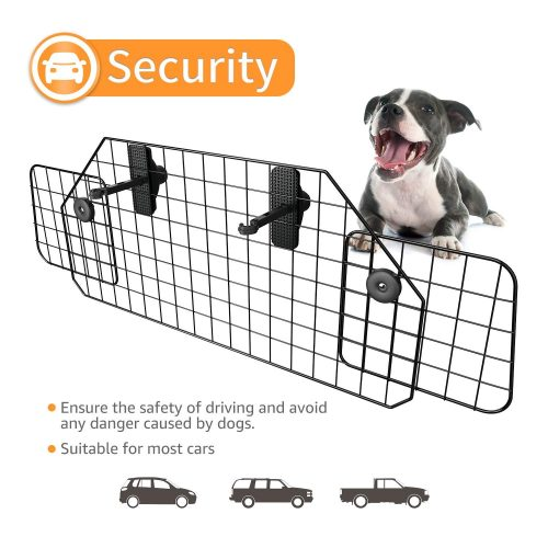 Suki&SAMI Dog Car Barrier Adjustable Pet Barrier for SUVs,Cars and Vehicles,Heavy Duty Wire Adjustable,Smooth Design