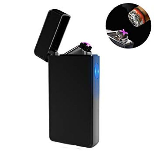 Dual Arc Plasma Lighter USB Rechargeable Windproof Flameless - Windproof Lighters