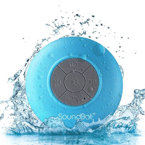 SoundBot SB510 HD Water Resistant Bluetooth 3.0 Shower Speaker - Shower Speakers