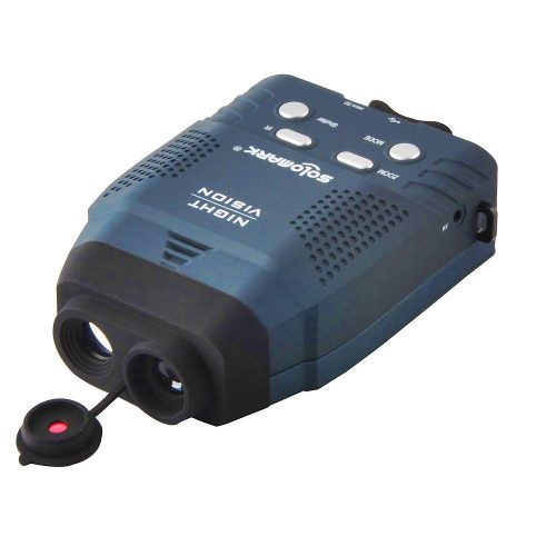 Solomark Night Vision Monocular, Blue-Infrared Illuminator Allows Viewing in The Dark - Records Images and Video