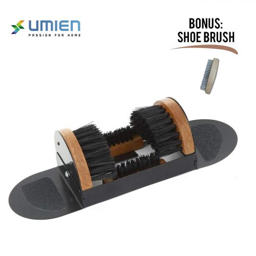 Boot Scraper, Scrubber, Cleaner, Dryer with Two Side Step Pads No Mounting Required Indoor and Outdoor use - Includes Extra Shoe Brush - Easy to Use for Children & Adults
