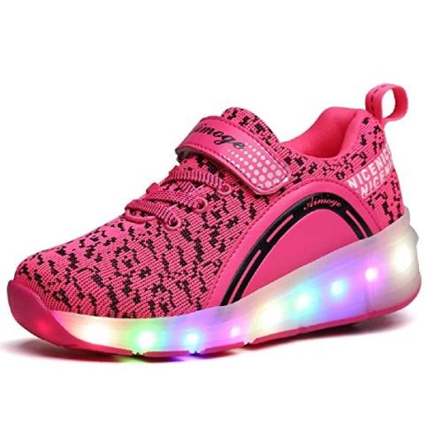 SDSPEED Kids Roller Skate Shoes with Single Wheel Shoes Sports Sneaker LED