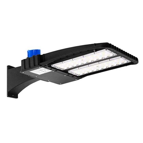 AntLux 150W LED Parking Lot Lights - LED Shoebox Pole Light - 18600lm, 5000K - 450W HID/HPS Replacement - Outdoor Commercial Area Street Security Lighting Fixture - 100-277V, IP66, Photocell Included