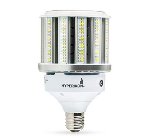 Hyperikon LED Corn Bulb Street Light 80W (HIP/HID Replacement) 10400 Lumen, Large Mogul E39 Base, 5000K Outdoor Indoor Area Lighting, IP64 Waterproof, UL