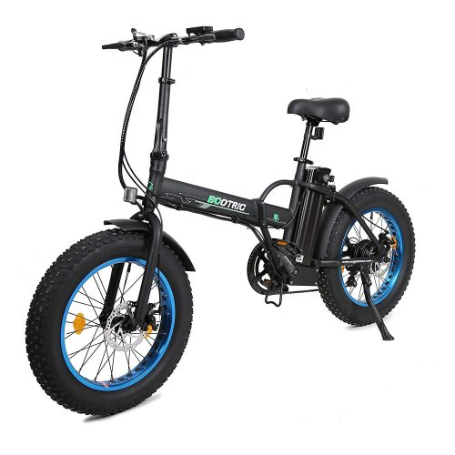 "ECOTRIC 20"" New Fat Tire Folding Electric Bike Beach Snow Bicycle bike 500W Electric Moped Electric Mountain Bicycles …"