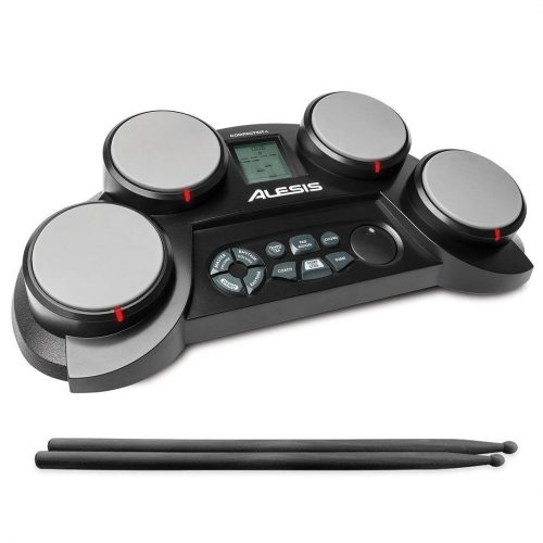 AlesisCompactKit 4 | Portable 4-Pad Tabletop Electronic Drum Kit with Drumsticks