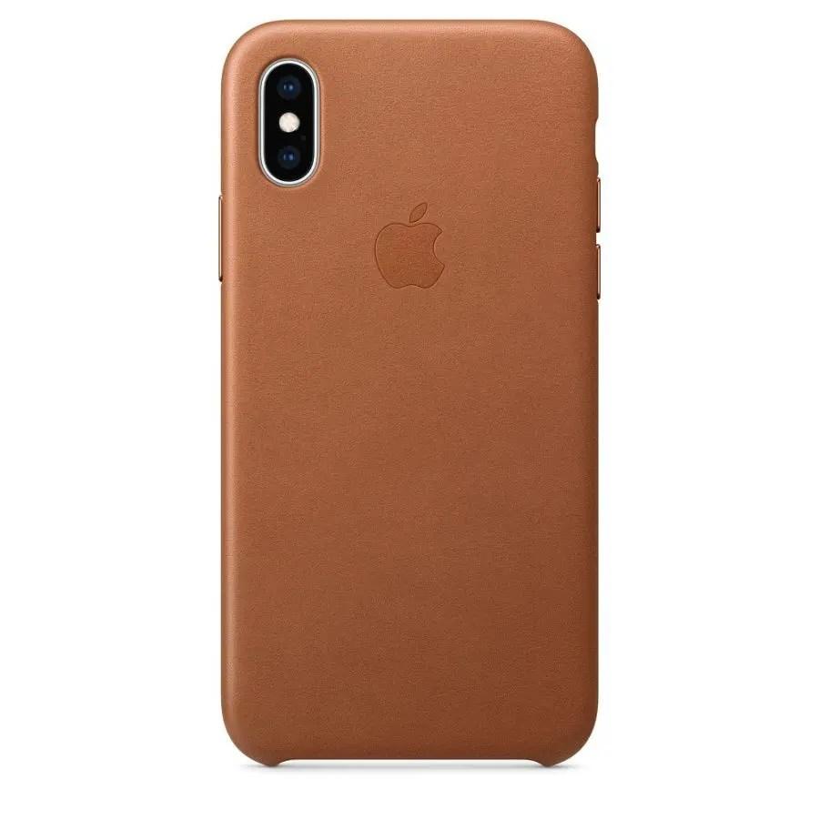 כיסוי עור iPhone X Leather Case