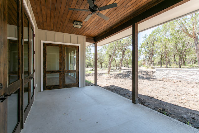 covered porch in hill country