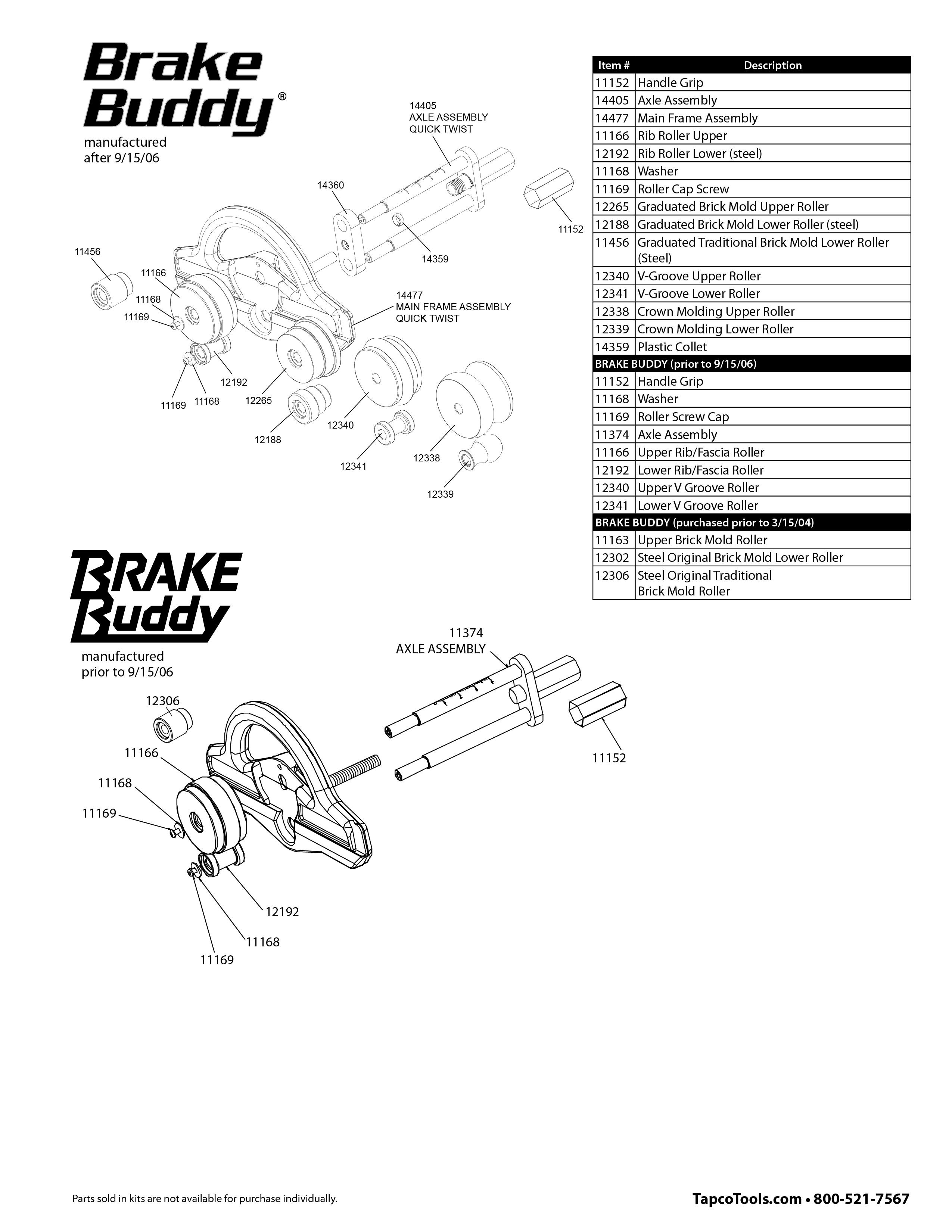 Tapco Brake Parts