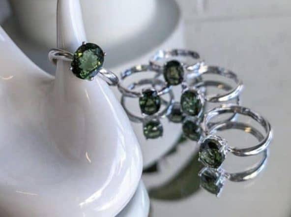 Moldavite Ring - Moldavite