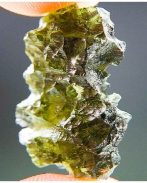 Hedgehog Authentic Shiny Basednice Moldavite With Certification of Authenticity (3.47grams)