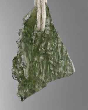 Raw Moldavite Pendant On Cord (4.5grams)