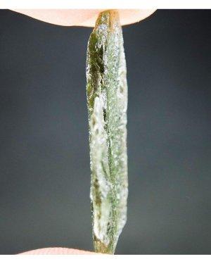 Shiny Clear Natural thin Moldavite (2.1 grams)