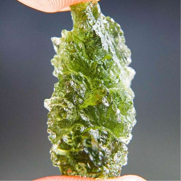 Excellent Natural Shape Authentic Moldavite With Certificate Of Authenticity (5.09grams)2