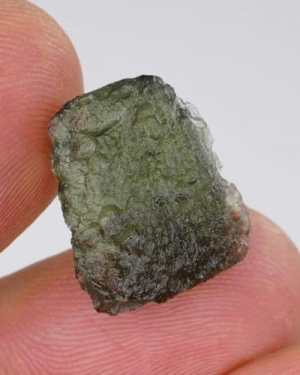 High Quality A+ Small Raw Moldavite with Certificate of Authenticity (1.8grams)