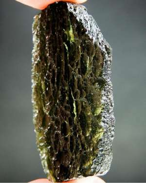 Authentic Large Glossy Moldavite with Certificate of Authenticity (15.62grams)