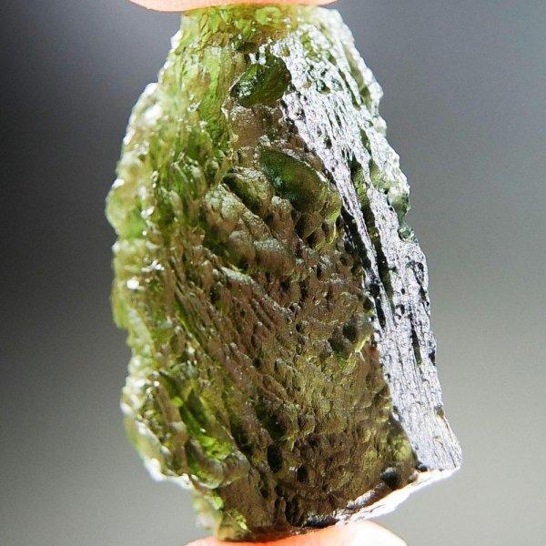 Natural Glossy Fragment Shape Moldavite