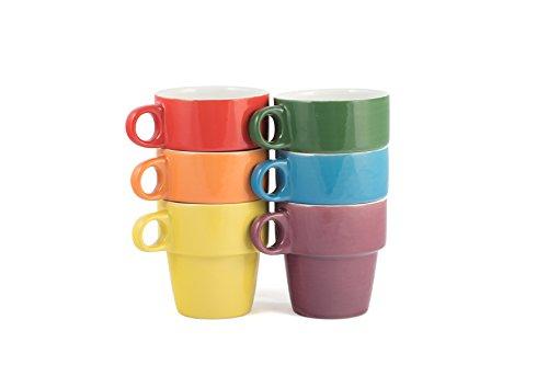 gypsy color ceramic coffee mug set of 6