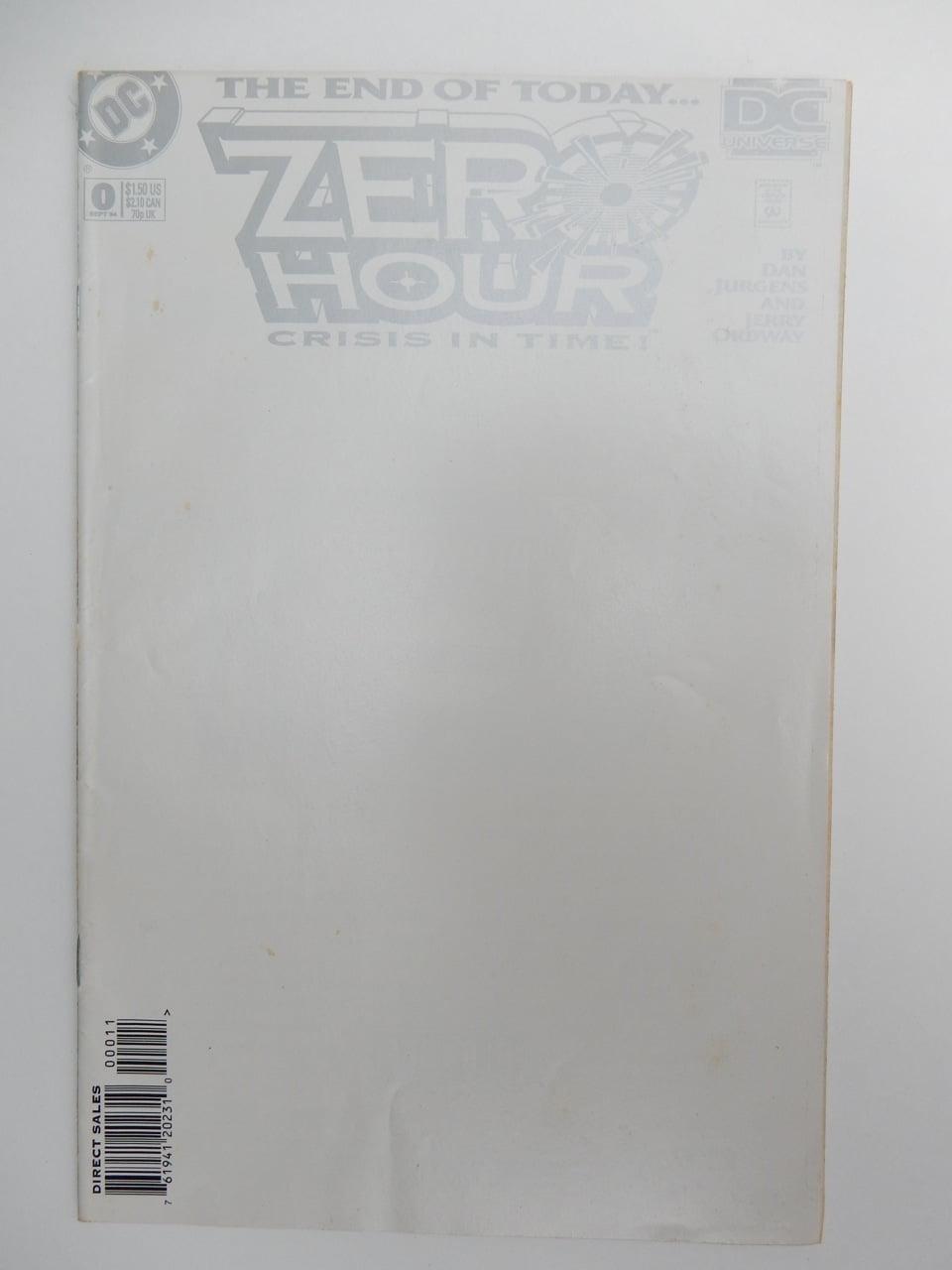 Zero Hour #0 Blank Cover