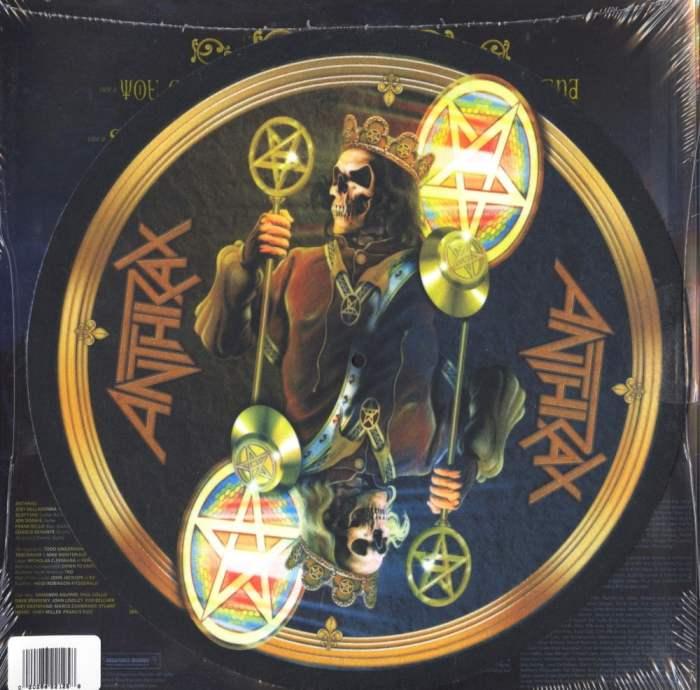 """Anthrax """"For All Kings"""" Yellow Splatter Vinyl plus Slipmat"""