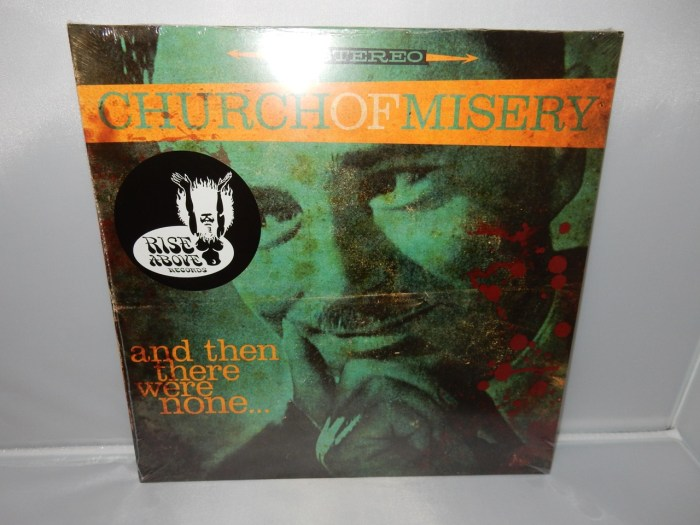 """Church Of Misery """"And Then There Were None"""" Red and Black Colored Vinyl Gatefold NEW"""