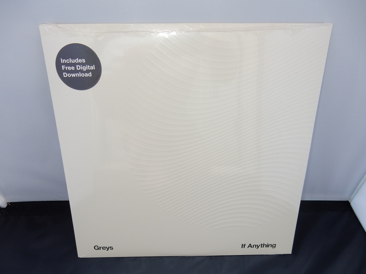 """Greys """"If Anything"""" Grey Marbled Colored Vinyl LP with Textured Sleeve"""