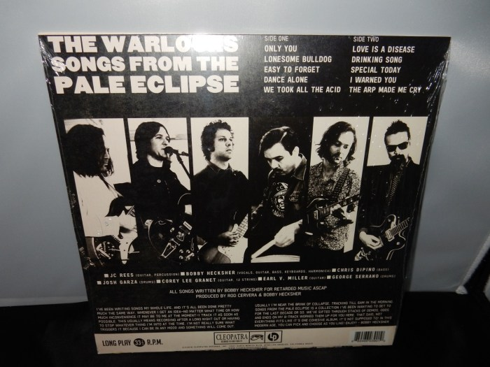 "The Warlocks ""Songs From The Pale Eclipse"" Ltd Ed Psych Rock Vinyl LP"