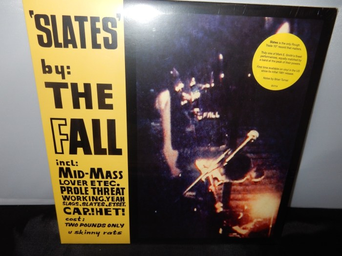 """The Fall """"Slates"""" 10"""" Limited Vinyl EP - first domestic issue since 1981"""