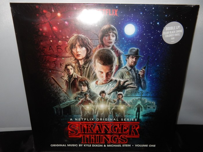 """Michael Stein """"Stranger Things"""" 2 Vinyl LPs Clear with Black Smoke Colored Vinyl"""