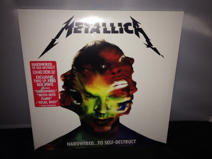 """Metallica """"Hardwired To Self Destruct"""" Red Colored 2XLP Vinyl 2016 New Sealed"""