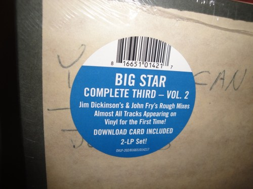 "Big Star ""Complete Third - Volume 2: Rough to Mixes"" 2XLP Vinyl NEW 2017"