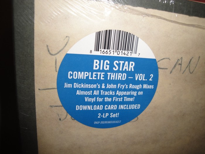 "Big Star ""Complete Third - Volume 2: Rough to Mixes"" 2XLP Vinyl NEW 2017"