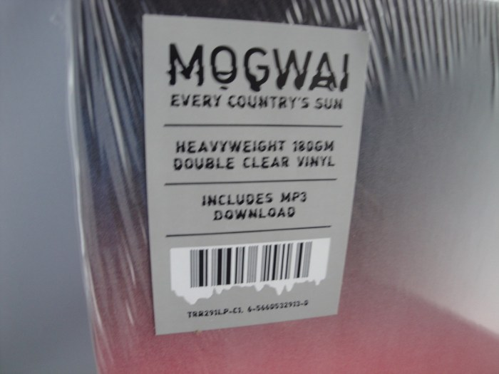 Mogwai - Every Country's Sun - 180 Gram, 2XLP Clear Vinyl, 2017