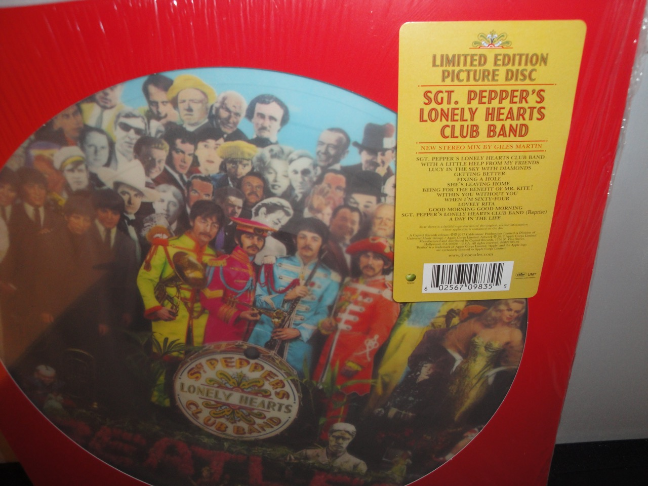 The Beatles - Sgt Pepper's Lonely Hearts Club Band - Limited Edition Picture Disc, Vinyl, LP, Reissue, 2017