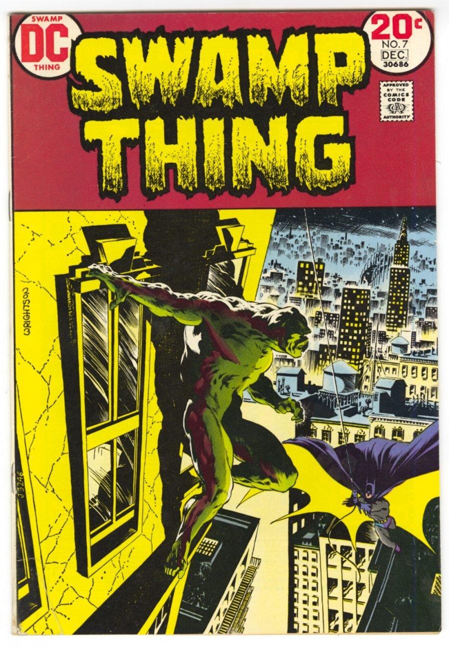 Swamp Thing #7 - Guest Appearance by Batman - 1972 - Bernie Wrightson, Len Wein