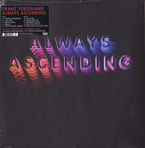 "Franz Ferdinand ""Always Ascending"", Indie Exclusive, 145 Gram, Pink Colored Vinyl, 2018"