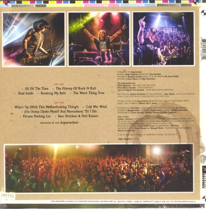 Supersuckers - Suck It - Vinyl, LP, Reptilian, Hard Rock, Garage Rock, 2018
