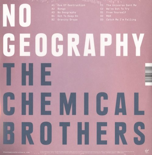 Chemical Brothers - No Geography - 2XLP, Vinyl, 180 Gram, Astralwerks, 2019