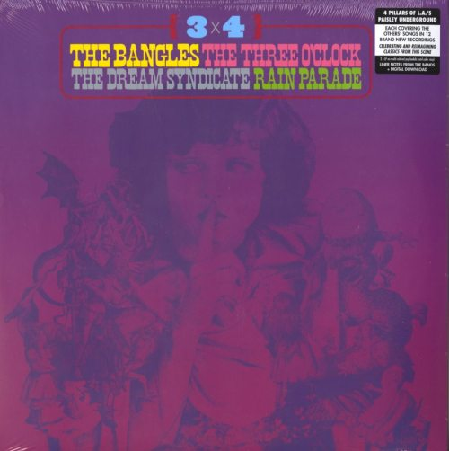 Various Artists - 3 x 4 - Paisley Underground, Bangles, Rain Parade, Dream Syndicate, Three O'Clock, Purple Vinyl