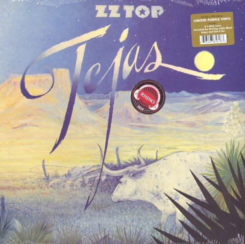 ZZ Top - Tejas - Limited Edition, Purple, Colored Vinyl, Gatefold, Reissue, 2019