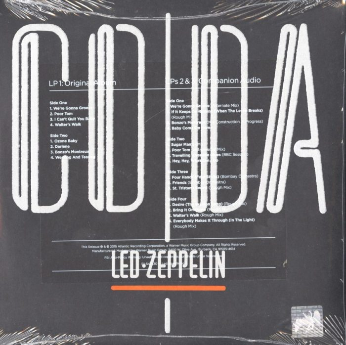 Led Zeppelin - CODA - 180 Gram, Deluxe, 3XLP, Remastered, Atlantic, 2015
