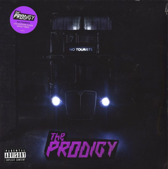 Prodigy - No Tourists - Limited Edition, Double Vinyl, Clear, Violet, SMALL DING IN BOTTOM OF JACKET, Discounted
