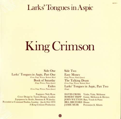 King Crimson - Larks Tongues in Aspic - 200 Gram, Robert Fripp Approved, DGM, 2013