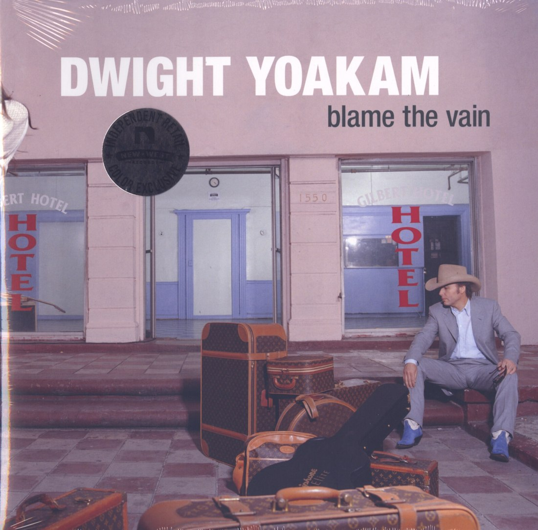 Dwight Yoakam - Blame The Vain - Limited Edition, White and Aqua Blue, Colored Vinyl, LP, Reissue, 2020