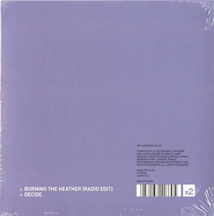 "Pet Shop Boys - Burning The Heather / Decide - 7"", Vinyl, Single, X2 Records, Import, 2020"