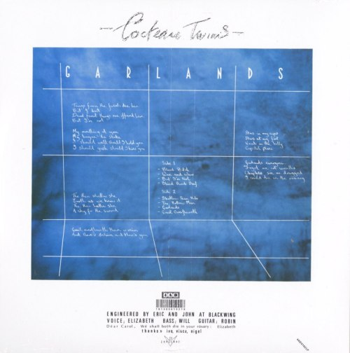 Cocteau Twins - Garlands - 180 Gram, Remastered, Reissue, Vinyl, LP, 4AD, 2020