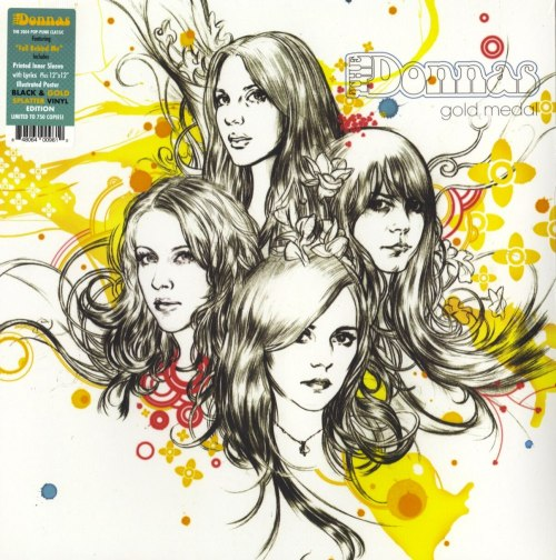 The Donnas - Gold Medal - Limited Edition, Black, Gold, Colored Vinyl, Poster, Real Gone Music, 2020