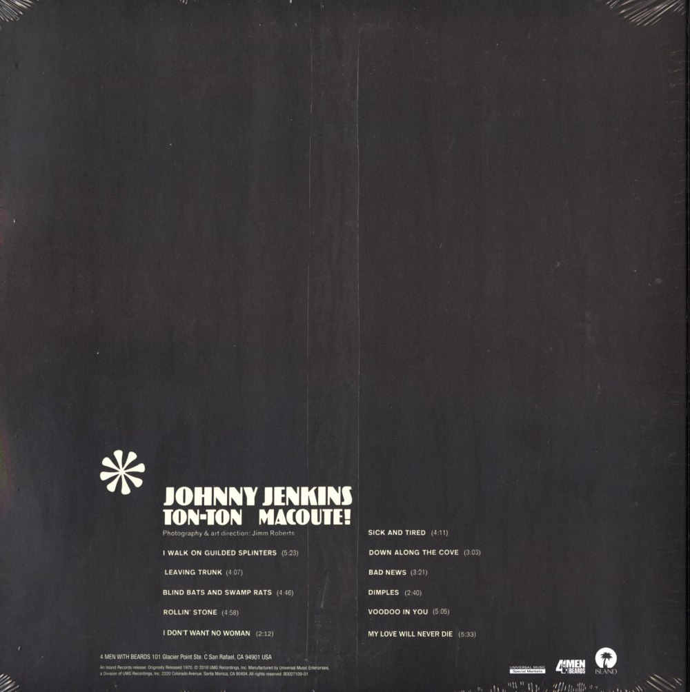 Johnny Jenkins - Ton-Ton Macoute! Allman Brothers, Vinyl, LP, Reissue, 4 Men With Beards, 2018
